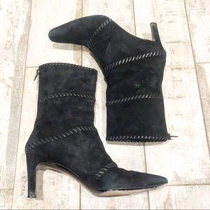 Salvatore Ferragamo 8 black heeled boots